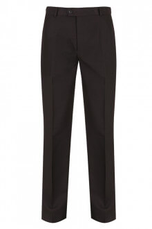 Crispin Flat Front Trousers - TFF-BLK