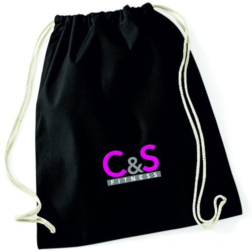 C & S Fitness Drawstring Bag - Black