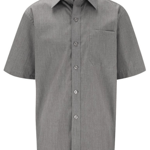 short sleeve grey shirt